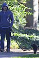 michael c hall low profile walk with pet pooch 07