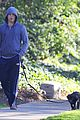 michael c hall low profile walk with pet pooch 10