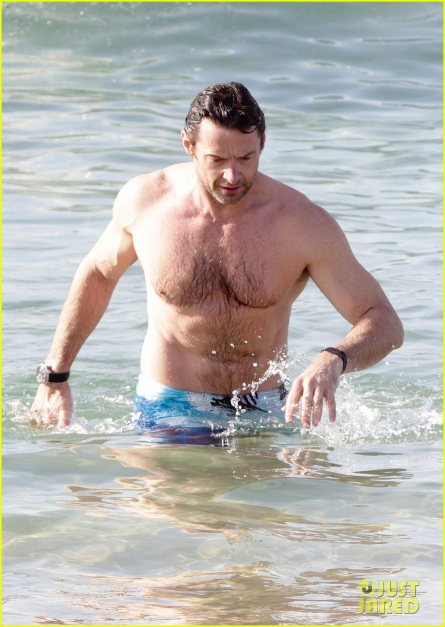 hugh jackman goes sexy shirtless after pan casting news 11