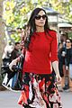 famke janssen is festive in red for last minute shopping 02
