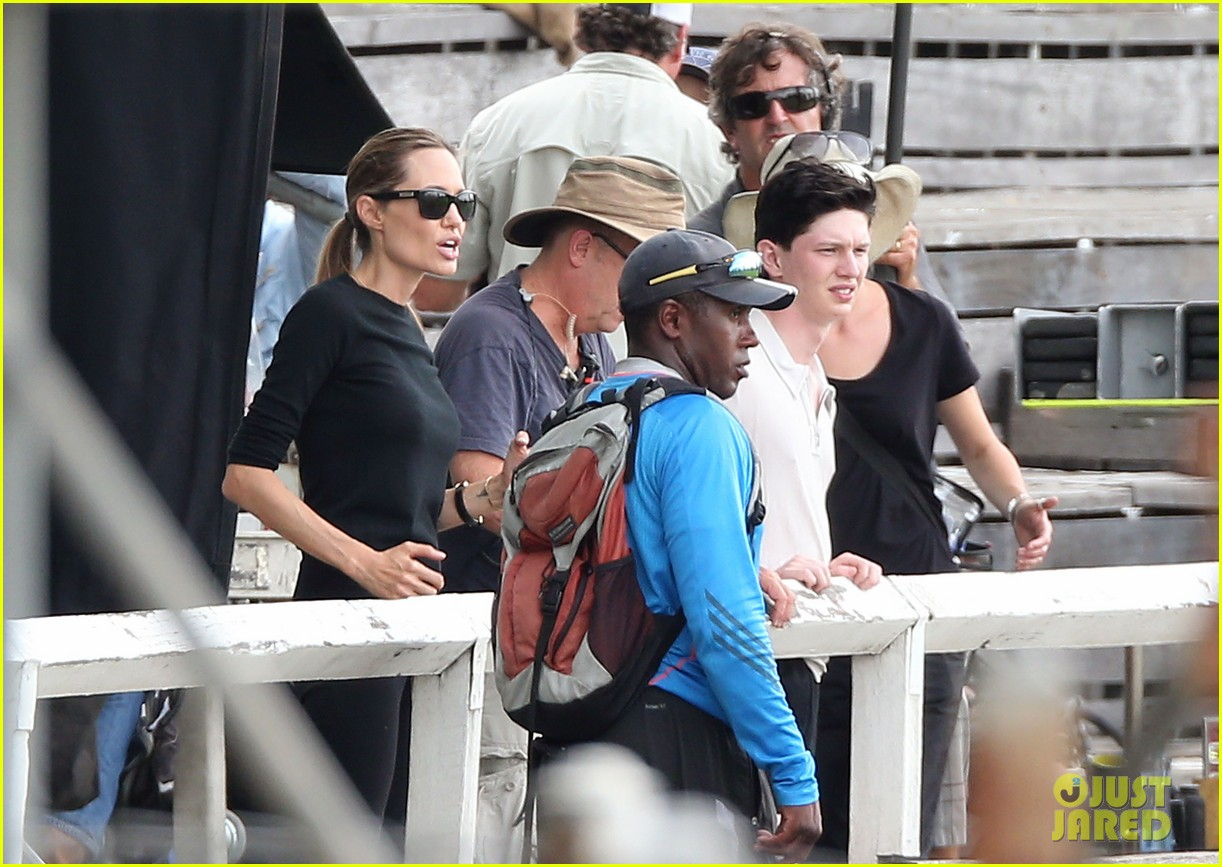 angelina jolie back to work for unbroken after family weekend 23