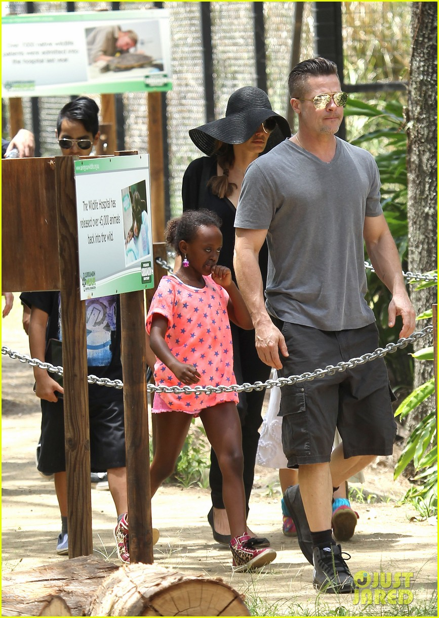 angelina jolie brad pitt visit the zoo with all six kids 13
