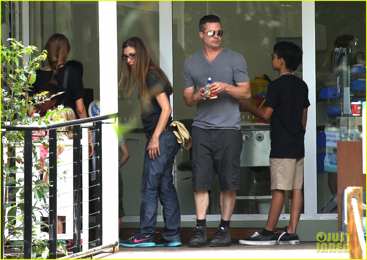 angelina jolie brad pitt visit the zoo with all six kids 183018254