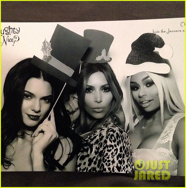kim kardashian kanye west kardashian christmas party 2013 07