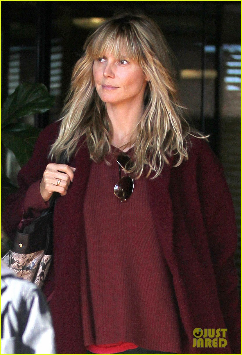 heidi klum spends weekend with her daughters 073007996