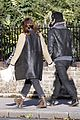 keira knightley james righton hold each other during winter walk 27