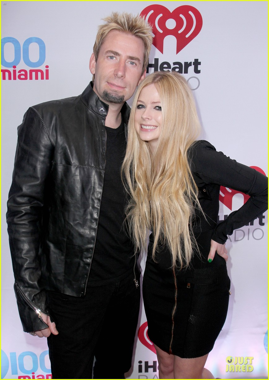 avril lavigne chad kroeger y100 jingle ball 2013 pair 02