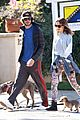 leighton meester adam brody morning dog walk 10
