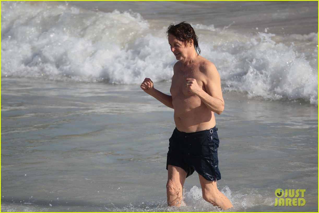paul mccartney shirtless vacation with wife nancy shevell 093018500