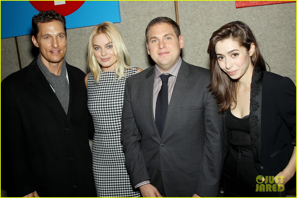 matthew mcconaughey wolf of wall street luncheon with margot robbie 02