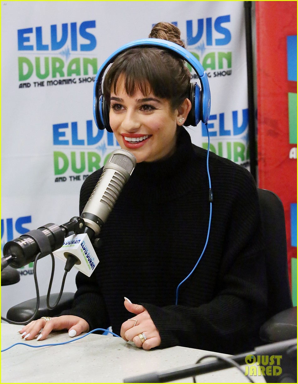 lea michele cannonball makes radio debut with elvis duran 203012934
