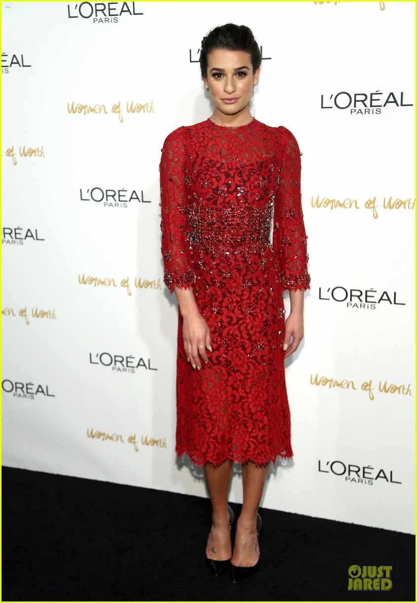 lea michele red hot at loreal paris women of worth 033004543
