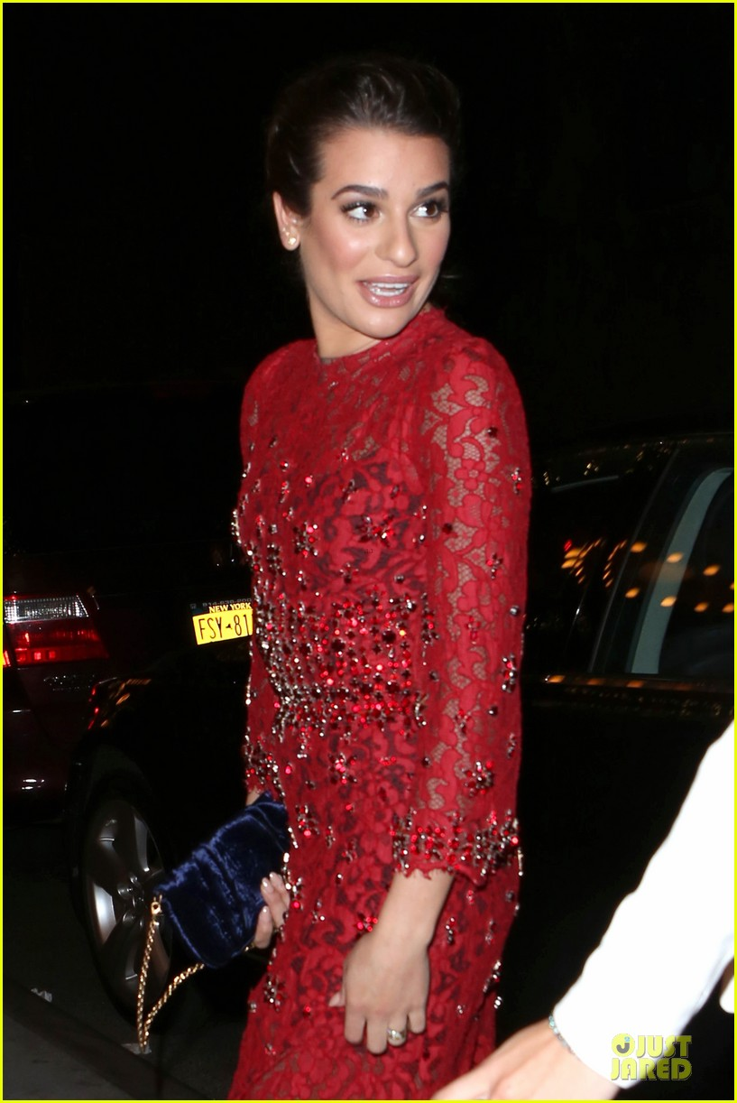 lea michele red hot at loreal paris women of worth 09