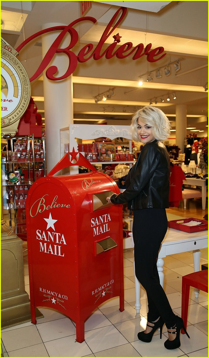 rita ora material girl holiday collection celebration with santa 09