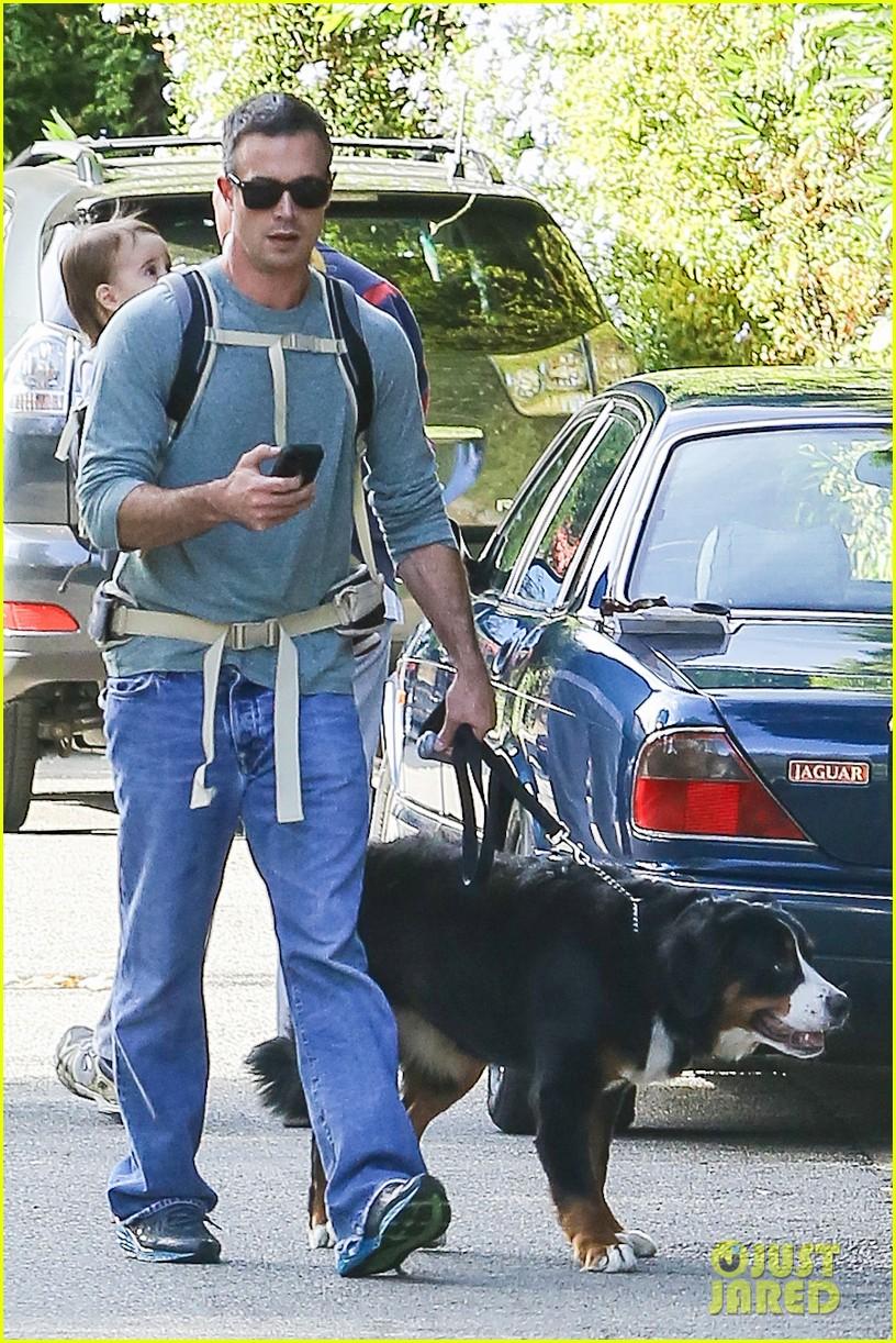 freddie prinze jr walks the dog with son rocky 11