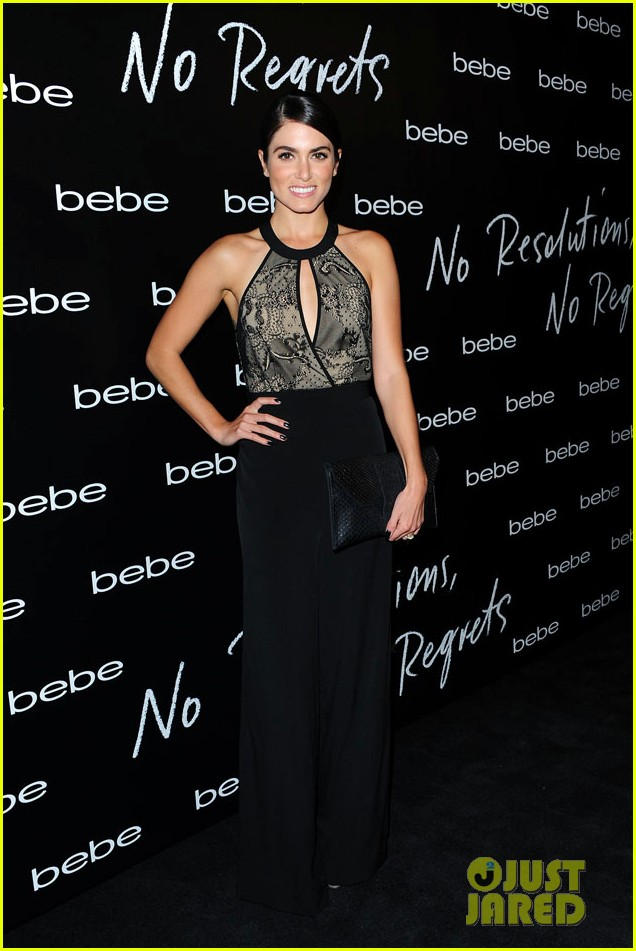 nikki reed nina agdal bebe holiday party 083006355