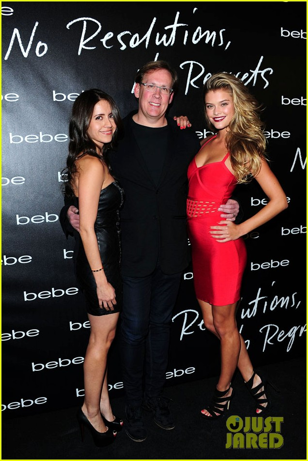nikki reed nina agdal bebe holiday party 23
