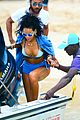 rihanna bikini beach babe for barbados christmas 12