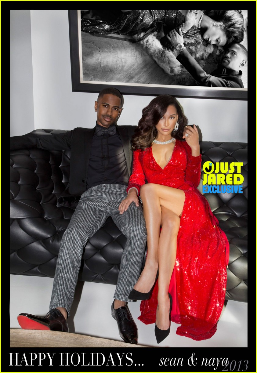 naya rivera big sean christmas card revealed exclusive