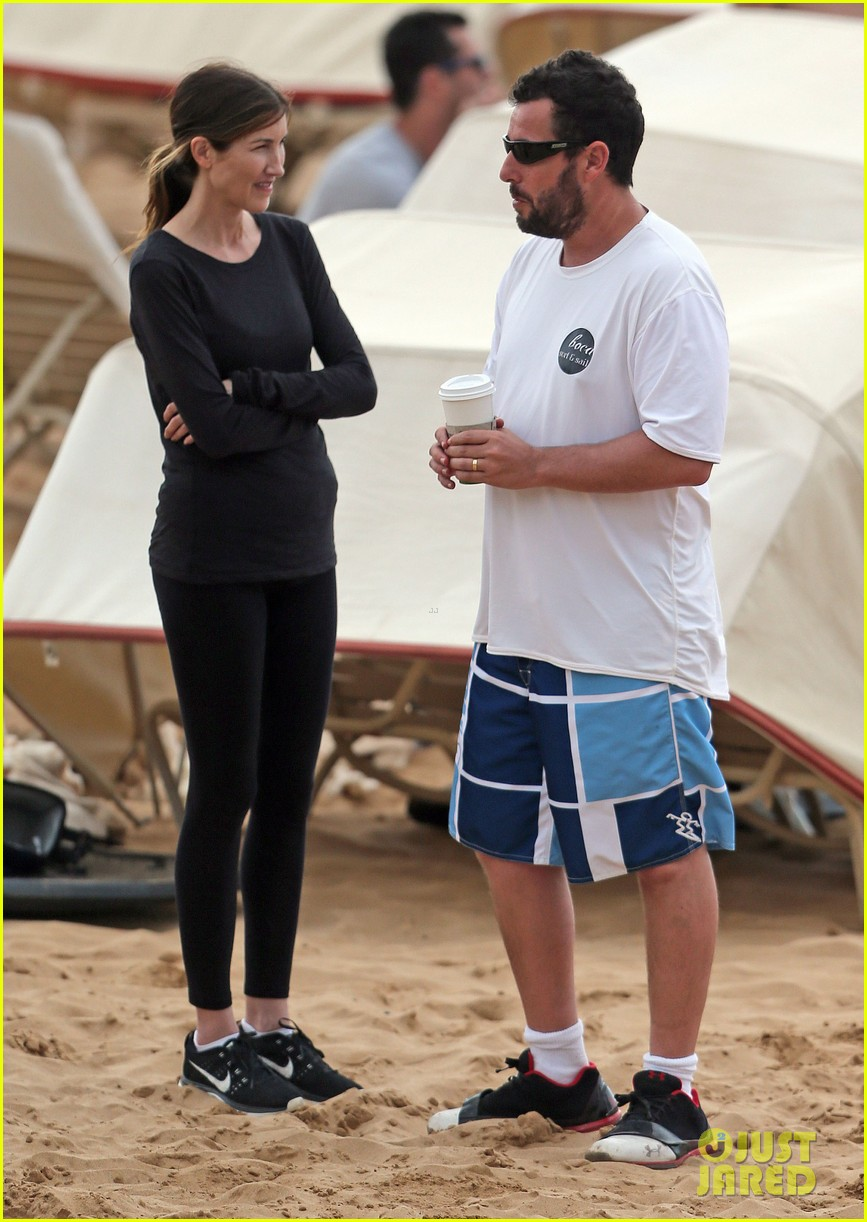 adam sandler spends relaxing beach day with wife jackie 013020369