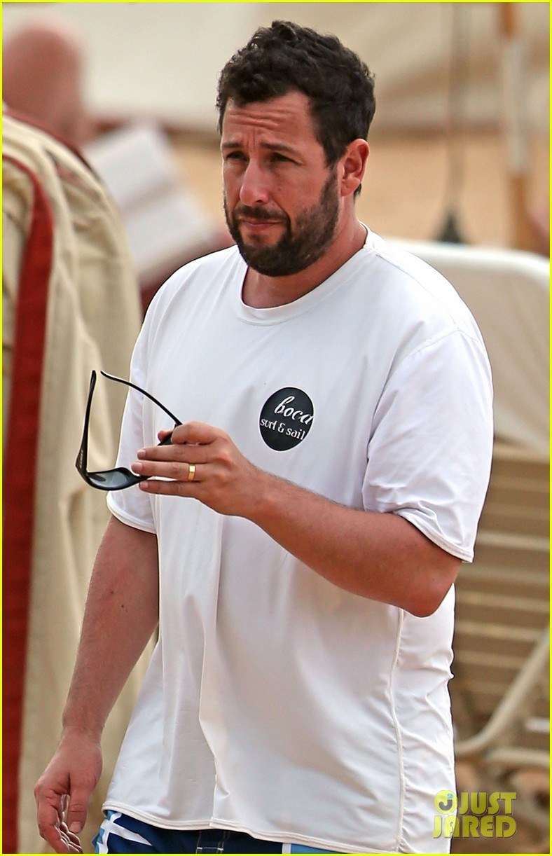 adam sandler spends relaxing beach day with wife jackie 02