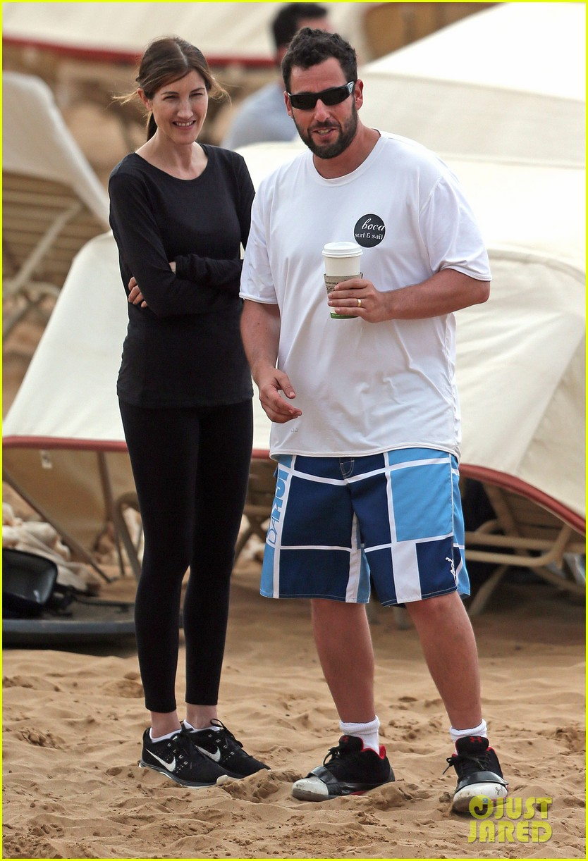 adam sandler spends relaxing beach day with wife jackie 05