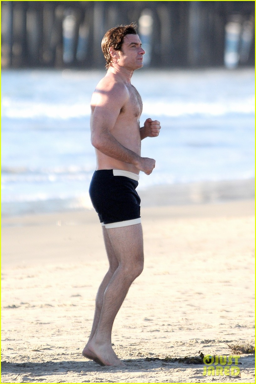liev schreiber goes shirtless in skimpy swimsuit at the beach 13