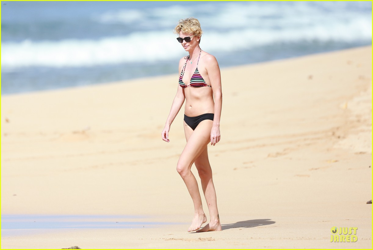 charlize theron colorful hawaiian bikini babe 173020241