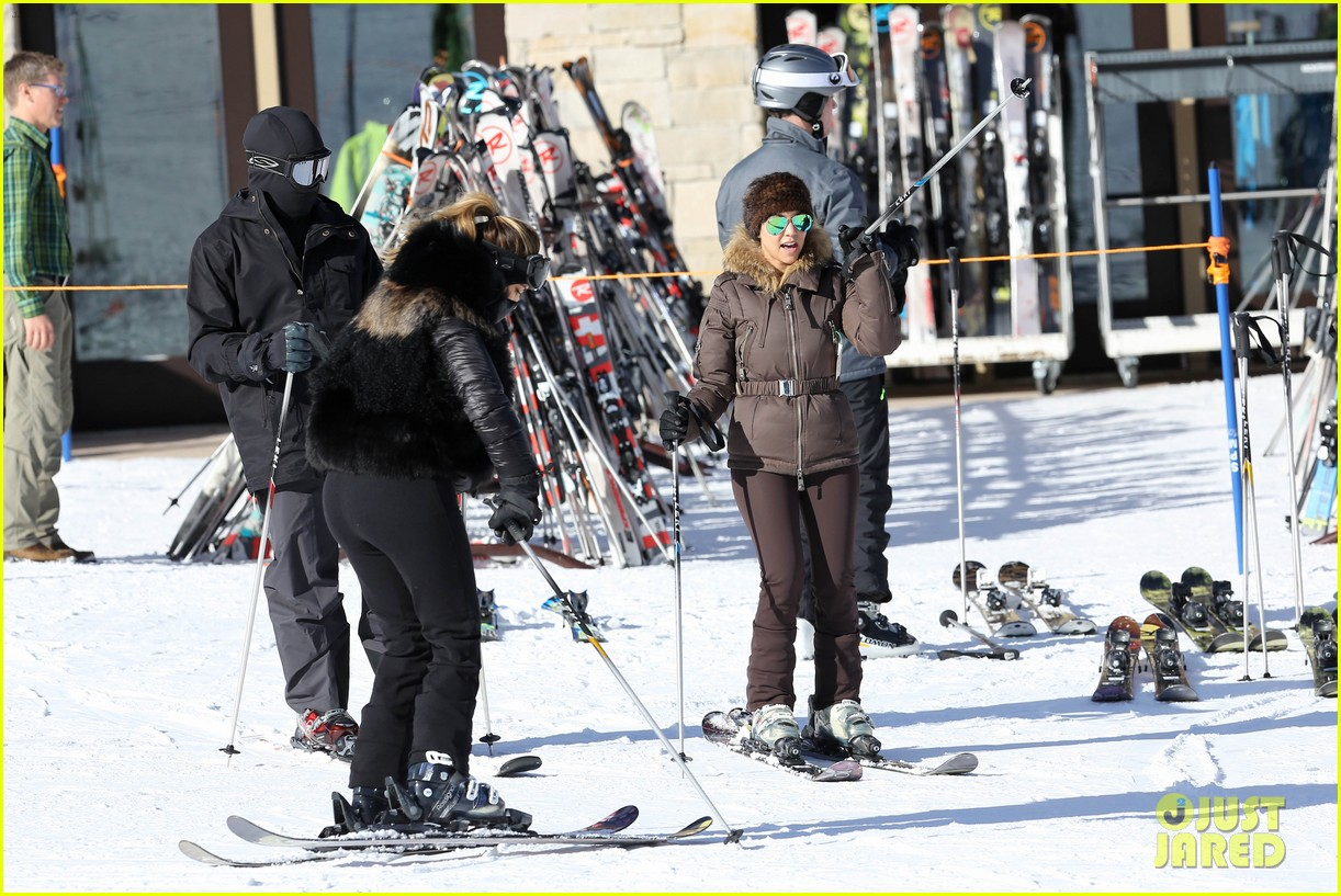 kanye west wears full face mask for skiing with kim kardashian 30