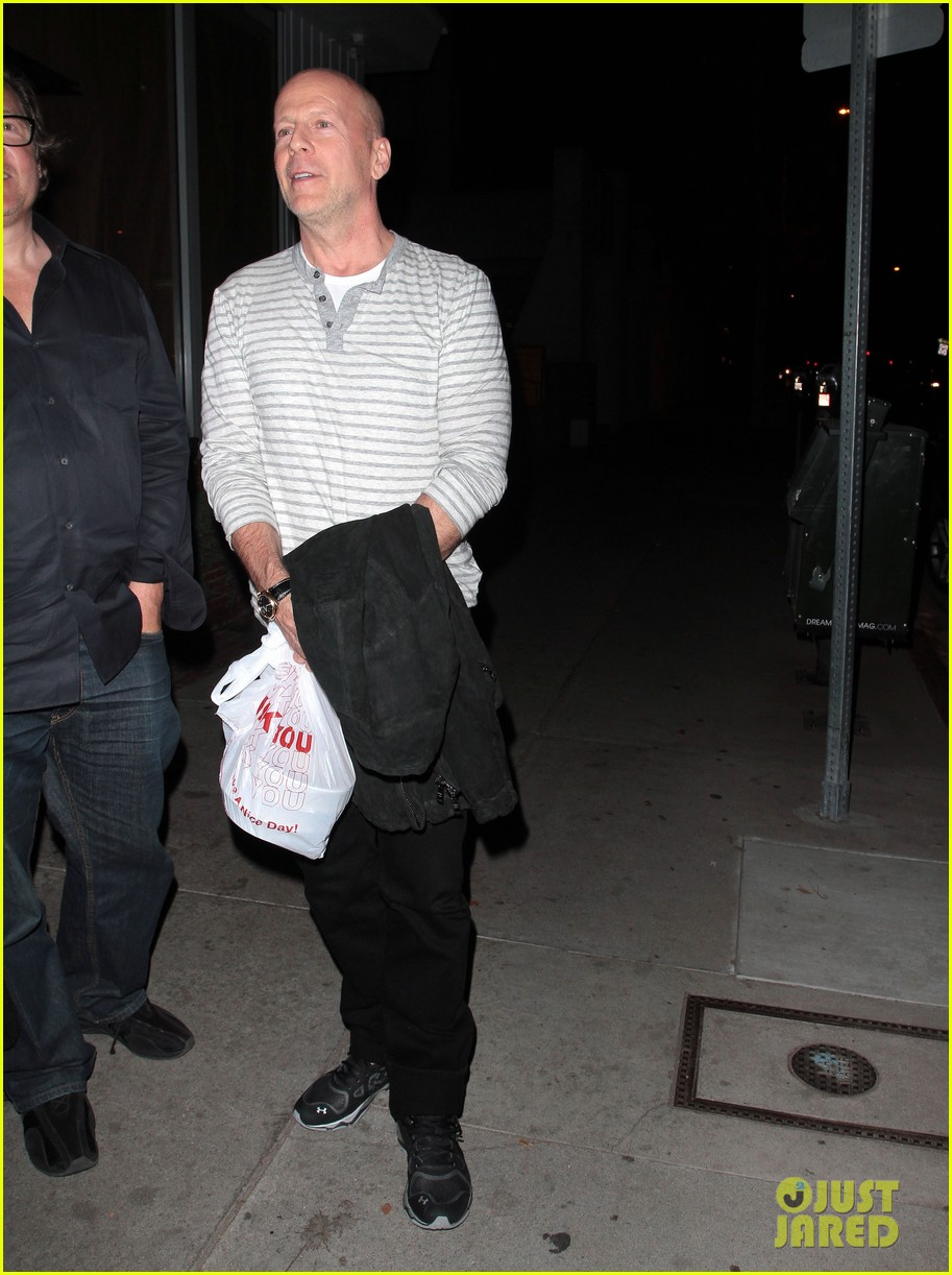 bruce willis dines with red producer after baby news 05