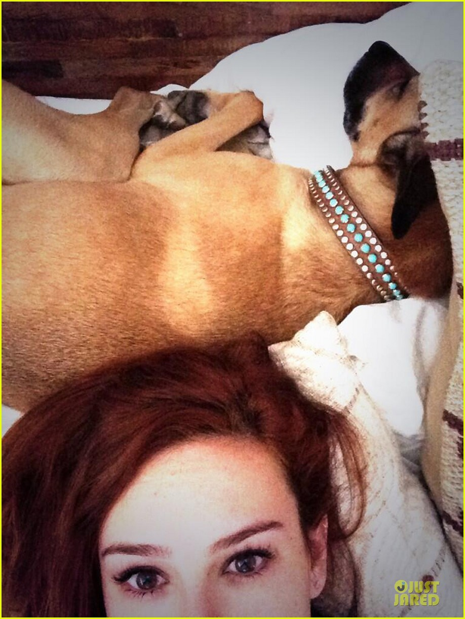 rumer willis i just really wanna curl up with my pups 05