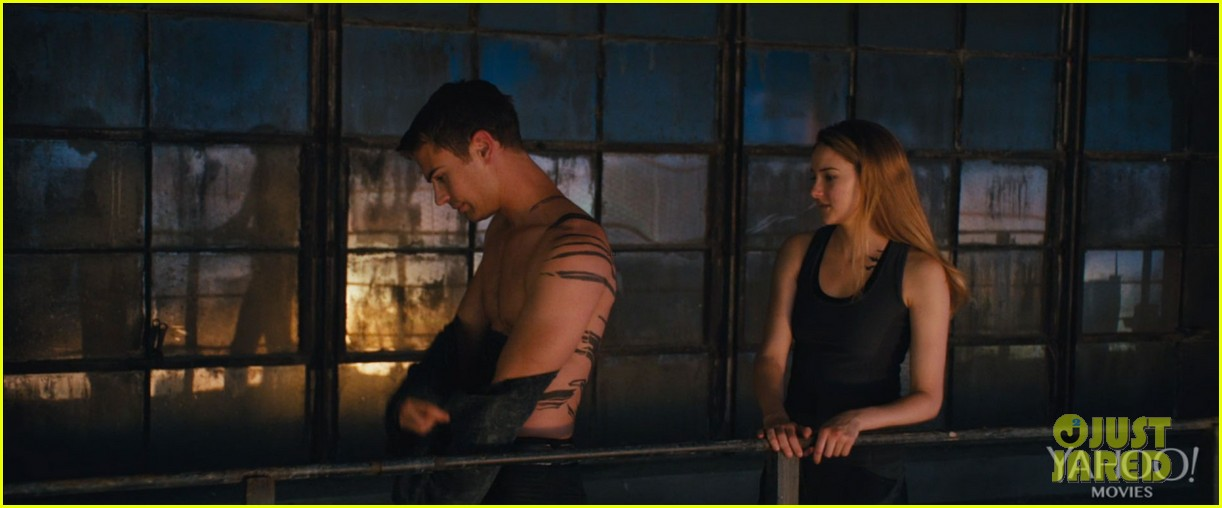 shailene woodley theo james kiss in new divergent clip 013014607