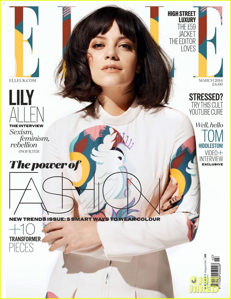 lily allen talks almost retiring with elle uk march 2014 01