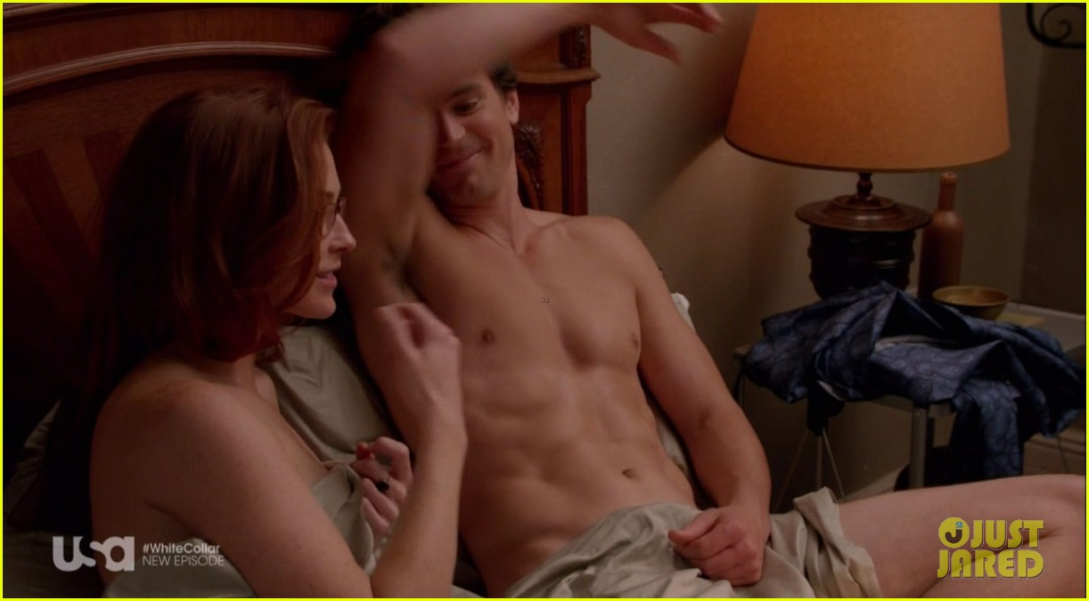matt bomer shirtless sexy in recent white collar episode 02