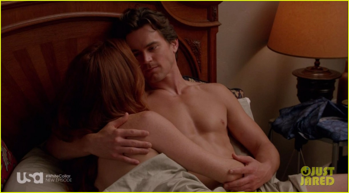 matt bomer shirtless sexy in recent white collar episode 13