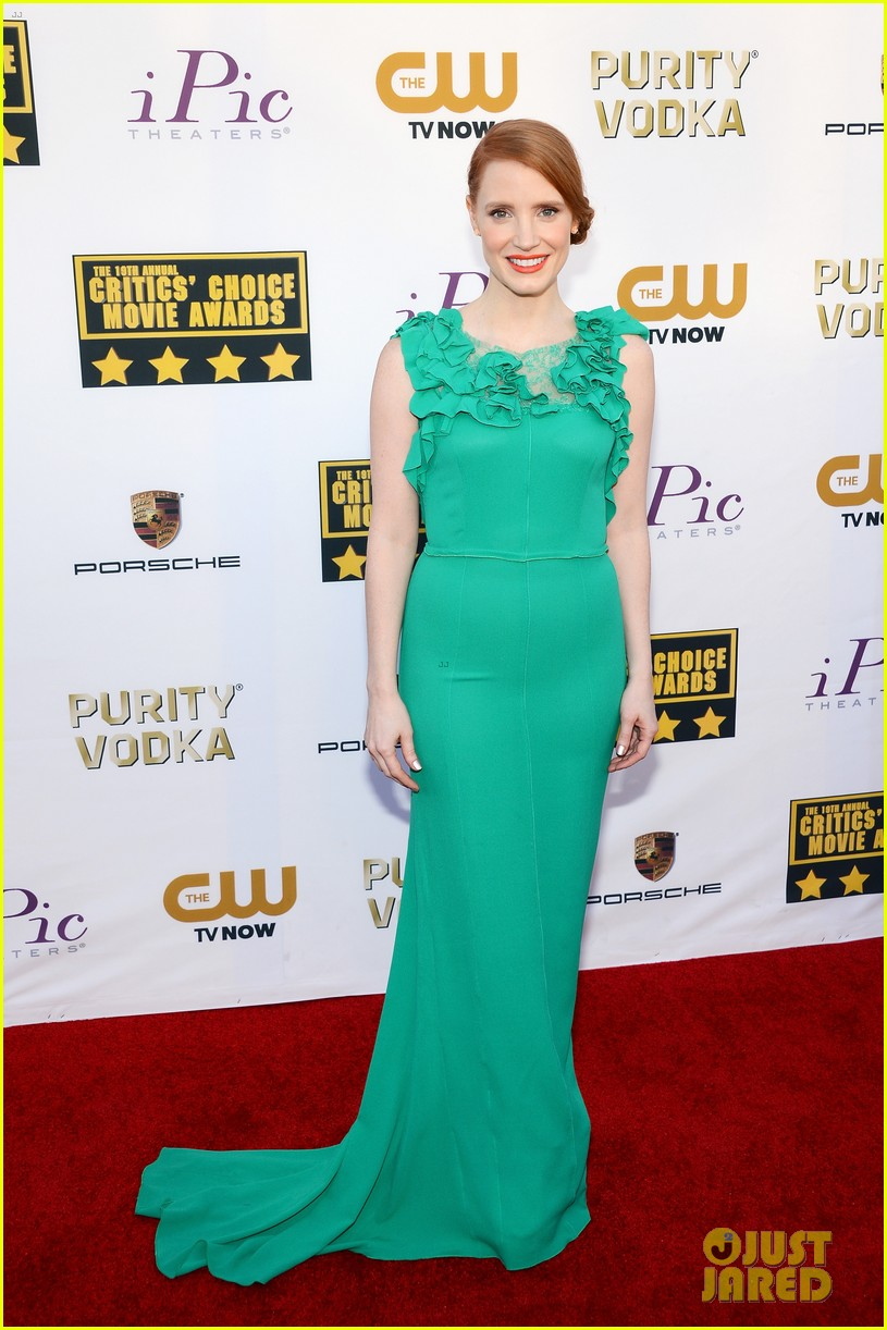 jessica chastain critics choice movie awards 2014 red carpet 053032900