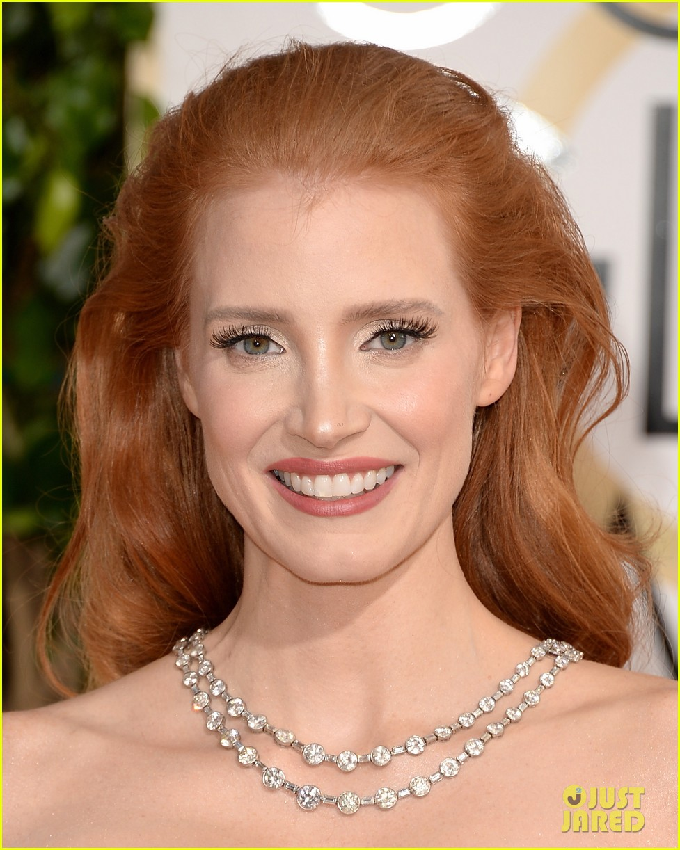 jessica chastain golden globes 2014 red carpet 02