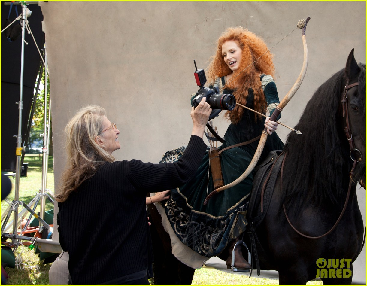jessica chastain princess merida for disney dream portrai 133026188