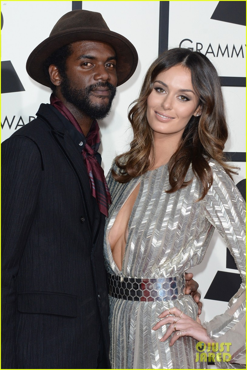 gary clark jr grammys 2014 with girlfriend nicole trunfio 063040906