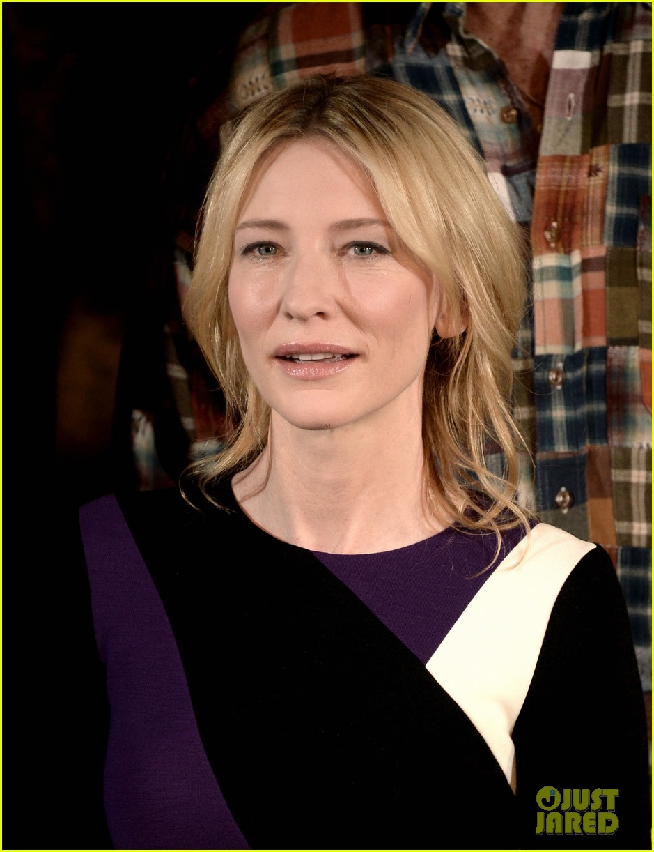 george clooney cate blanchett monuments men photo call 13