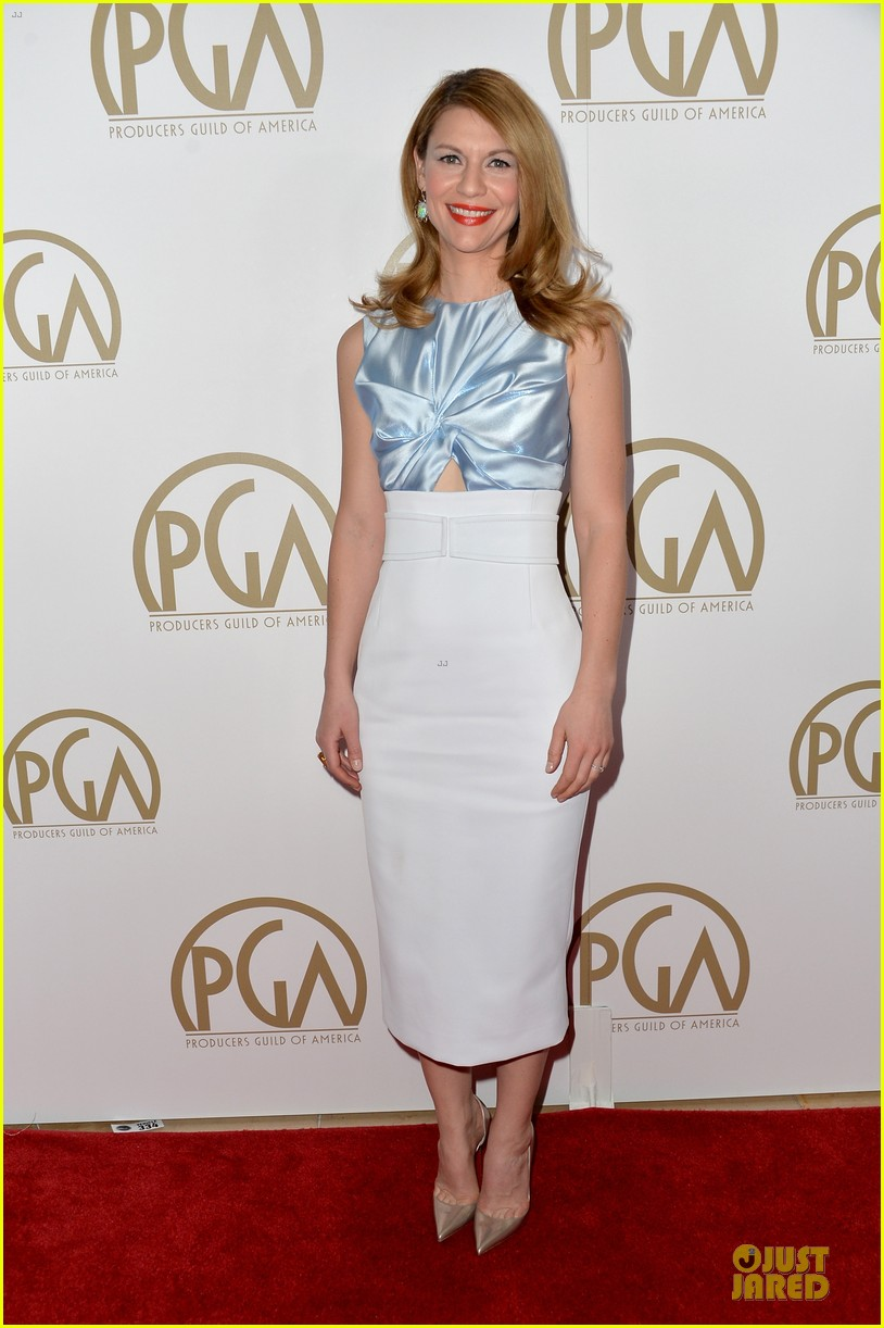 claire danes hugh darcy producers guild awards 2014 01