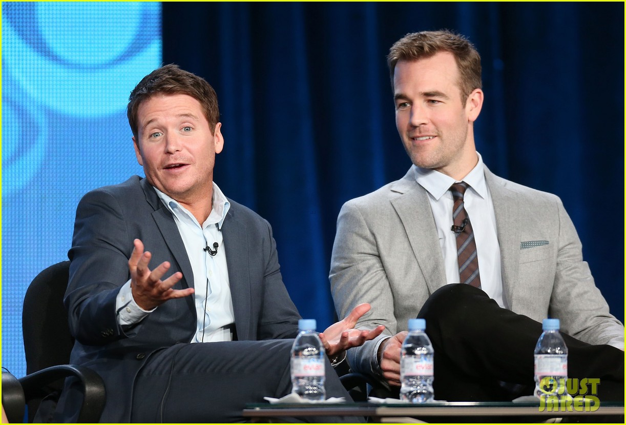 brooklyn decker james van der beek cbs tca panel 2014 143032173