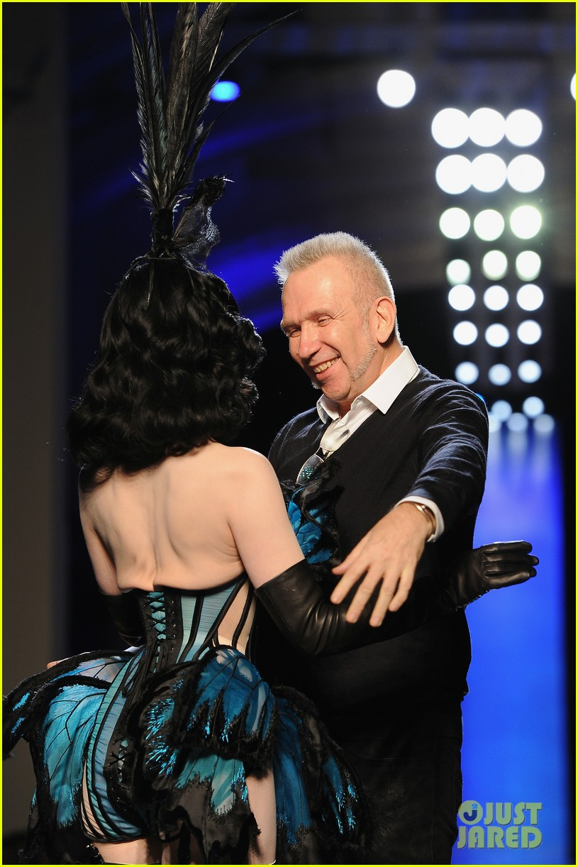 dita von teese hits runway for john paul gaultier show 17