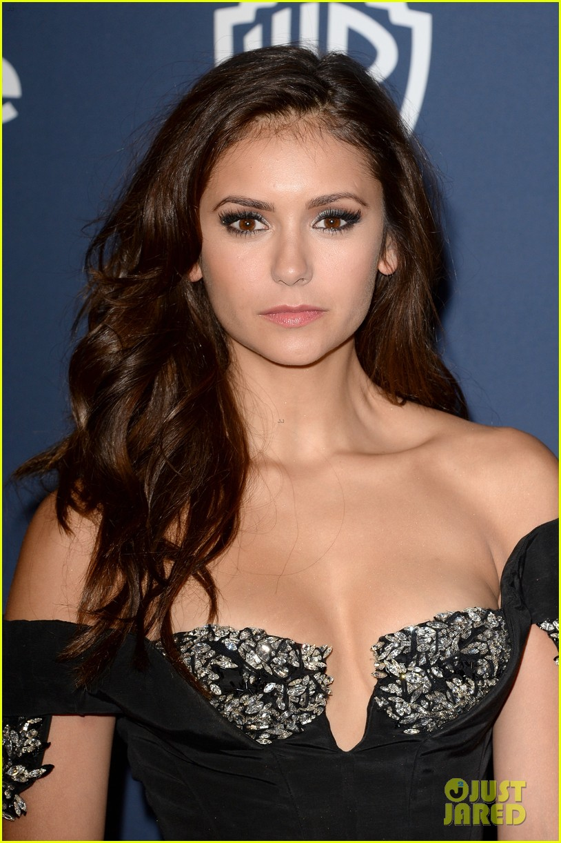 nina dobrev paul wesley instyle golden globes party 2014 07
