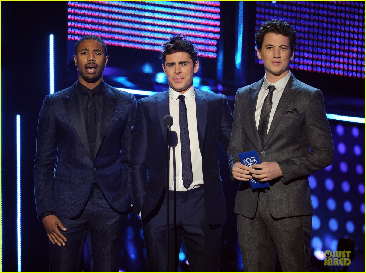 zac efron michael b jordan peoples choice awards 2014 033025713