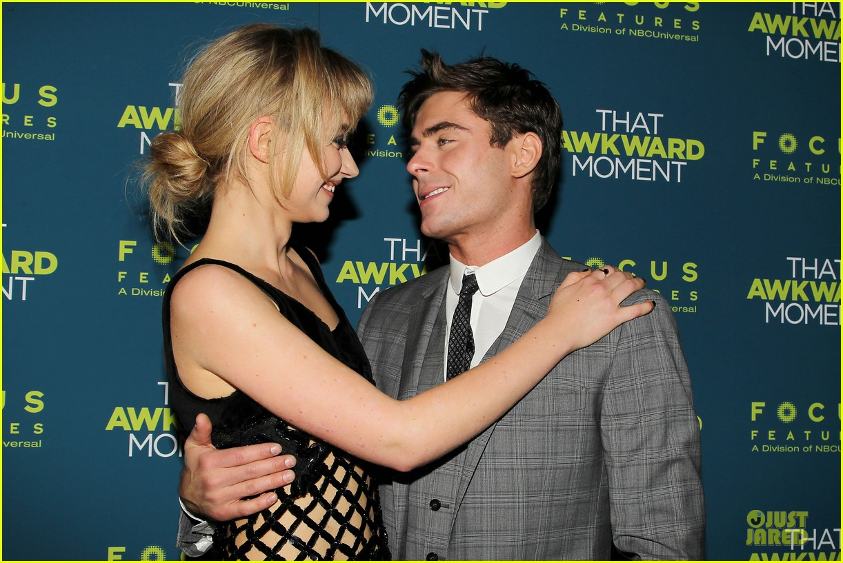 zac efron imogen poots that awkward moment premiere 15