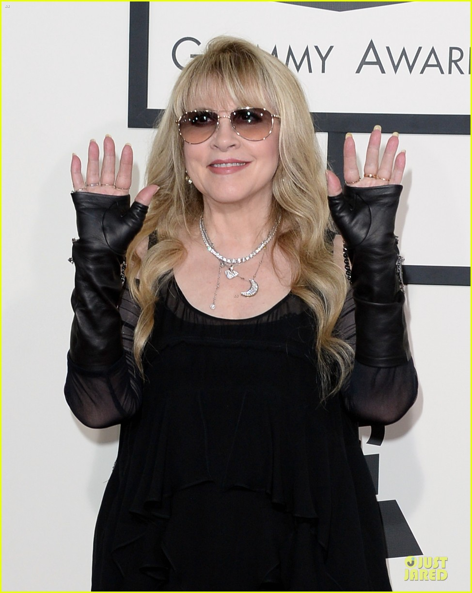 gloria estefan stevie nicks grammys 2014 red carpet 04