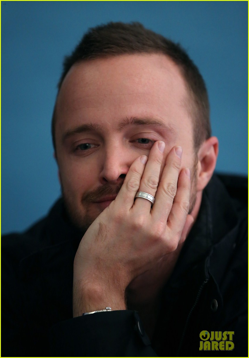 elle fanning aaron paul meet up at varietys sundance studio 343036647