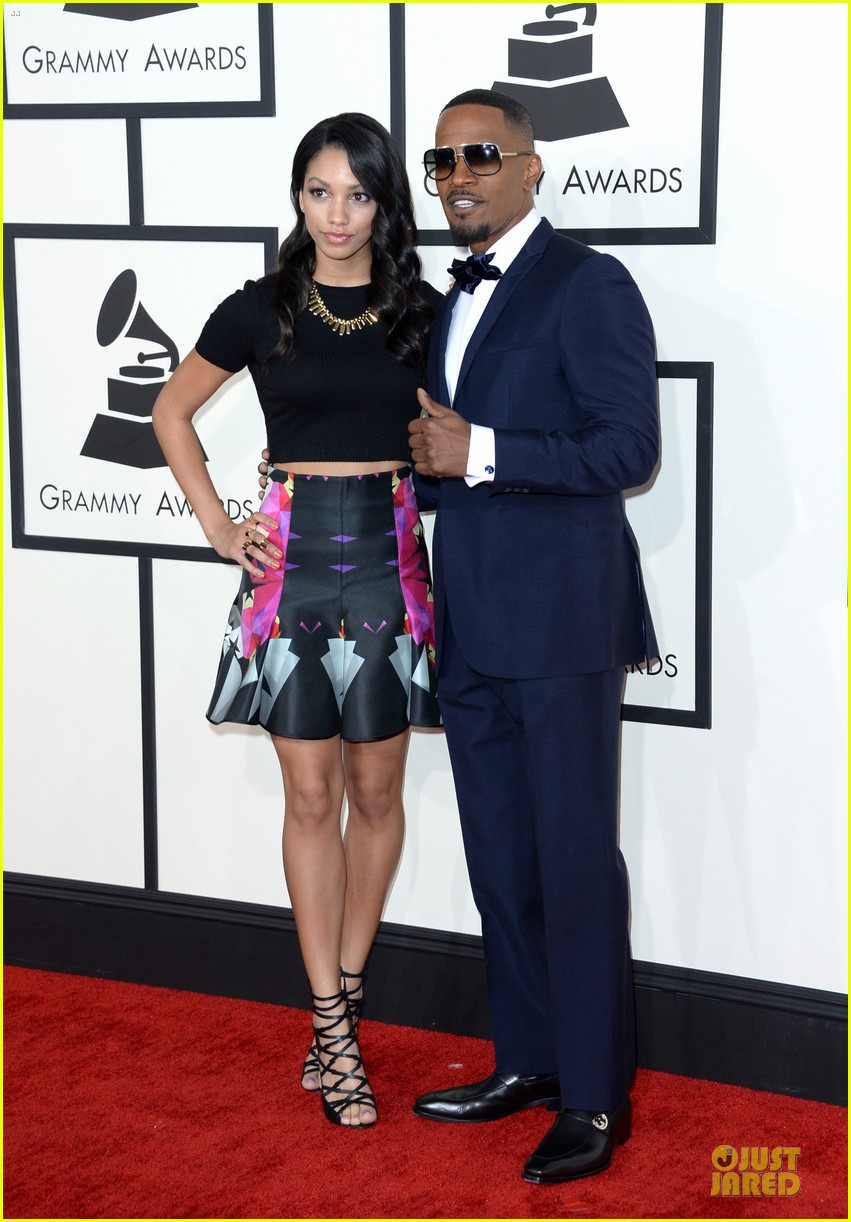 jamie foxx mack wilds grammys 2014 red carpet 01