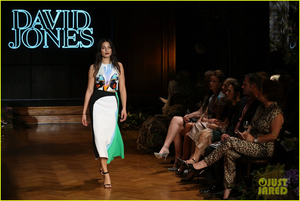 jessica gomes hits the runway for david jones collection launch 07